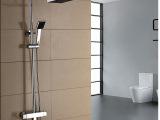 全铜智能恒温淋浴花洒套装 方形温控淋浴器 厂家直销 三档分水