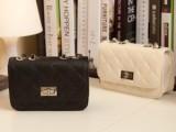 2014年新款可爱菱格包包简约气质小包零钱袋小香风笑薇女包