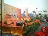 广州桁架舞台背景板搭建 年会设备出租 灯光音响