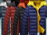 冬天纯色加厚棉衣韩版青少年学生连帽外套冬