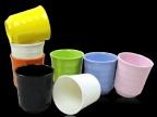 密胺A5高级仿瓷餐具 创意彩色螺纹杯子 茶杯 随手饮料牛奶杯C6332