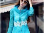 2014夏季韩版防晒衣长袖 超薄开衫蕾丝收腰防晒衫女 厂家直供