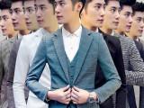 秋冬季男士西服三件套装韩版修身小西装职业