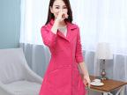 2014冬装新款时尚修身韩版时尚修身显瘦翻领女式皮衣外套批发
