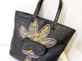 欧美2013新款印花长颈鹿眼镜包女包黑色大包包手提包单肩包购物袋