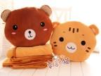可爱创意 三用熊猫小象毛绒公仔暖手捂/办公室靠垫/抱枕空调毯子
