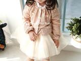 2015韩国品牌童装春季新品女童漂亮小淑女很多蝴蝶结毛衣针织衫
