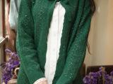 秋装新款日系针织衫森女系小清新提花镂空长袖毛衣女开衫外套8118