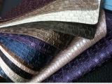 供应邻苯偶氮重金属达新欧标沙发压花pvc压延人造皮革面料