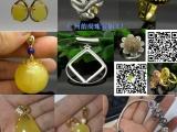 个性925纯银镶嵌琥珀蜜蜡吊坠空托 珠宝首饰加工厂选韵尚