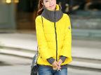 促销2014秋冬新款假两件套棉服女韩版加厚冬装外套棉衣女款小棉袄
