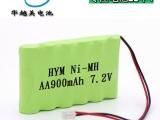 深圳华越美电池厂家 1.2v镍氢电池 2.4v剃须刀充电电池