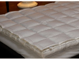 新枭纺织 酒店床上用品 双层白鸭绒羽绒床垫 加厚双人床褥