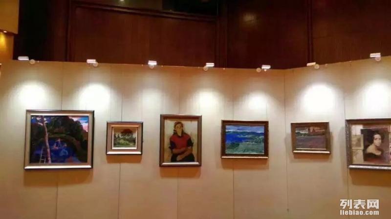 北京书画摄影展高档无缝挂画展板展墙租赁