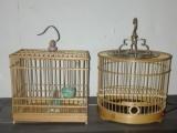 两个小鸟笼子