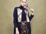 欧美春季新款女装毛呢外套中长款羊毛大衣女式风衣女修身显瘦甜美