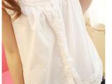 森女系日单清新吊带背心女打底白色纯棉宽松棉麻布森系吊带打底衫