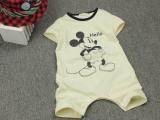 宝宝连身衣夏季婴儿服装婴幼儿短袖连体哈衣0-1-2岁亏本处理童装