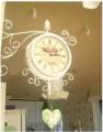 欧式   铁艺坐钟 时尚创意  双面钟   台钟