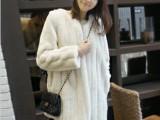 2013新款秋冬装韩版 气质女装奢华中长款仿皮草外套 大衣外套