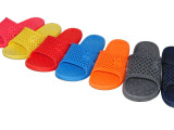 批发夏季室内防滑凉拖鞋 时尚吹气PVC拖鞋女