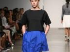 2014春夏新款女装 欧洲站宽松短袖上衣+镂空半身裙套装两件套