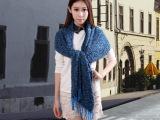 厂家直销 珊瑚绒保暖大披肩 圈圈纱秋冬新 款繁星点点 情侣围巾