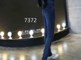 欧洲站女式牛仔裤韩版秋装大码女装铅笔小脚裤 一件代发高腰长裤