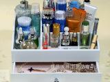 韩国创意家居化妆品收纳盒 桌面收纳木质化妆盒 木盒厂家专业定做