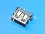优质USB 连接器 AF 10.6 四锥脚 无卷边 SMT 四脚