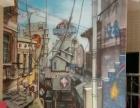 十个全覆盖 创意墙绘 古建壁画 培训机构宣传画