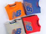 外贸童装卫衣2015秋季新款儿童品牌nb运动圆领套头卫衣毛圈 上