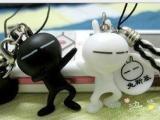 KZ027兔子手机挂件批发 兔子手机链