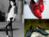 2015春季新款真皮单鞋圆头粗跟低跟欧美时尚女鞋厂家直销批