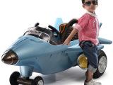 贝瑞佳儿童电动车四轮遥控车双驱可坐电动宝宝大型飞机车童车