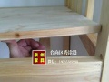 泉州实木松木双层床公寓床批发