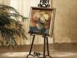 2015欧式室内创意写生铁艺高档油画绘画架 落地式婚纱展示架批发