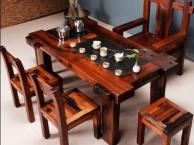 南宁市老船木茶桌椅子仿古茶台实木沙发茶几餐桌办公桌家具博古架