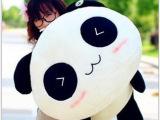 批发超可爱 趴趴熊猫毛绒玩具趴趴熊猫熊猫玩具公仔毛绒抱枕靠枕