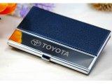 皮质商务名片盒 不锈钢材质 专业定制LOGO 正规企业 可开增票