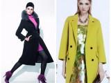 慧之芳双面羊绒大衣高端双面呢子大衣品牌折扣女装库存货源批发
