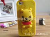 工厂热销维尼熊苹果硅胶手机壳 iphone5s  苹果6代手机硅