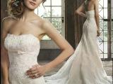 奢华蕾丝钻石抹胸鱼尾拖尾新娘婚纱礼服 个人写真婚纱 宴会婚纱