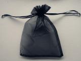 现货9*12黑色纱袋束口袋咖啡色 抽绳袋 束口袋拉绳袋 尼龙