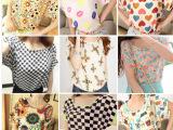 淘宝爆款甜美夏季雪纺衫大码宽松印花短袖爱心花朵潮T恤一件起批