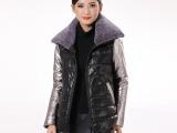 实拍有模特羊皮羊毛领真皮皮衣休闲普通款女装高档皮草新款批发