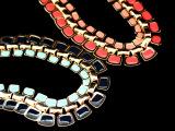 欧美外贸饰品尾单批发 新品 时尚简约方块项链 混批