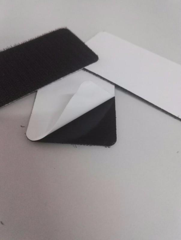 钩毛环保背胶魔术贴 高温尼龙双面带胶魔术贴 定制冲型背胶