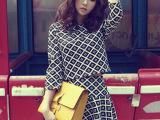韩版女装时尚休闲套装新款春七分袖上衣短裙两件套格子套装裙8928