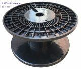 嘉盈胶轴生产 厂家绕线盘300型ABS黑色塑料线盘 一体成型